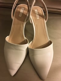 pair of white leather pointed-toe heels Anaheim, 92805