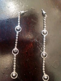 silver chain link necklace with pendant Douglas County
