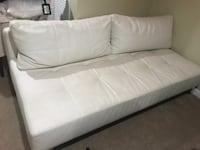 white leather 2-seat sofa WASHINGTON