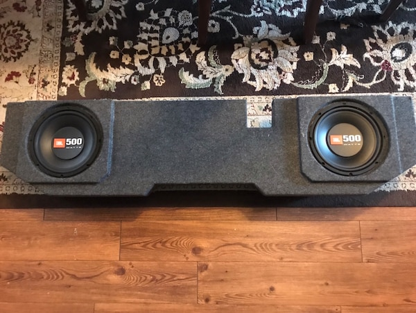 JBL 500 Watt Subwoofers with Custom Box and JL Audio Amplifier