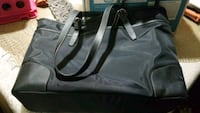 black and gray leather tote bag Gainesville, 20155