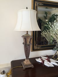 white and brown table lamp Centreville, 20120