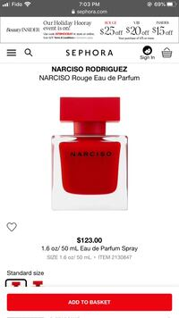 Narcisso rouge perfume, 50ml EDT Richmond Hill, L4C 5K3