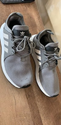 pair of gray Adidas low top sneakers Jackson, 08527