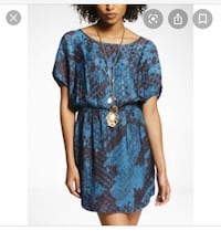 Dress Teal Snake Print Small North Vancouver, V7H 2T5