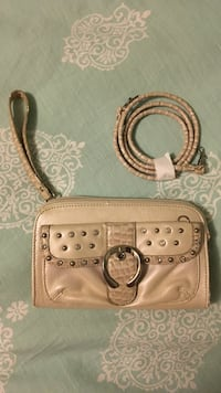 Kathy's van Zealand purse beige