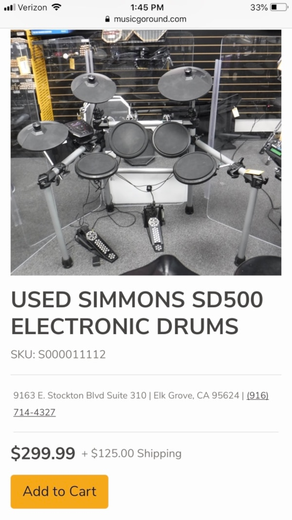 Simmons SD500 electronic Drum Set