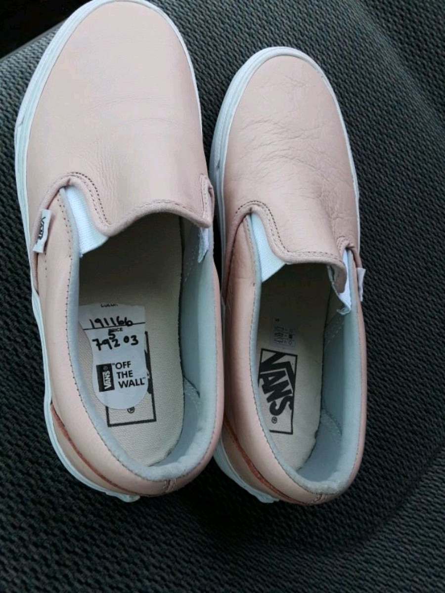 pair of white Vans slip on shoes for sale  Fountain Valley