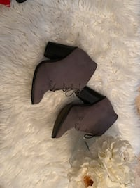 Call it spring grey suede ankle boots