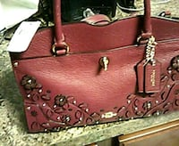 burgandy leather 2-way bag Silver Spring, 20902