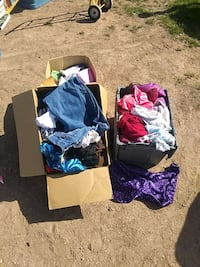 assorted color clothes lot with box Glendale, 85301