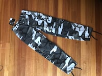 High waisted camo pants grey and black size8 womens Pascoe Vale, 3044