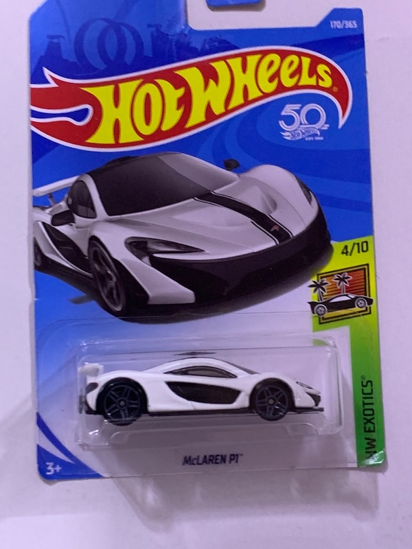 used hot wheels - mclaren p1 - white - hw exotics 4/10 for sale in