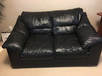 Black leather 2-seat sofa Chestermere