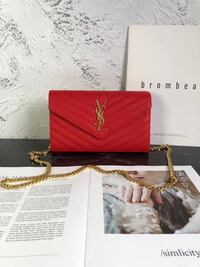 Red and gold YSL Bag