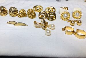 Napier, Monet and trifari earring lot.