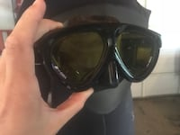 Gull tempered glass dive goggles