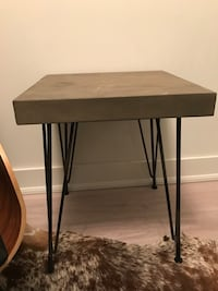 Structube Concrete Accent Table with Hairpin Legs