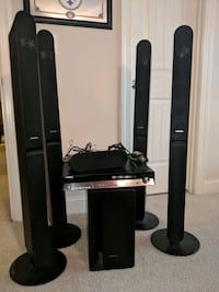 black and gray home theater system Monroe, 28110