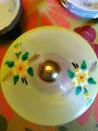 Hand painted glass bowl with lid  Greer, 29651