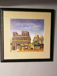 brown wooden framed painting of building Milton, L9T 3Z8