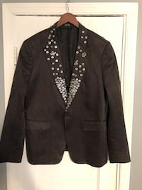 Men's Custom blazer with metal details size Large All hand sewn. In great condition! Show stopper. Washington, 20002