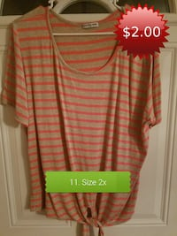 white and red stripe scoop-neck dress