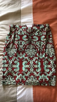 red and teal mini skirt Louisville, 40258