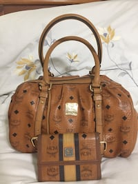 Brown leather MCM Cognac Burnaby, V5E 3P8