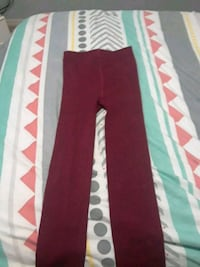 red and white stripe pants