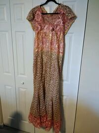 Pink and yellow cap-sleeved African dress Silver Spring, 20904