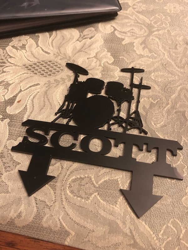 Know a Drummer Scott? Cake topper or plaque