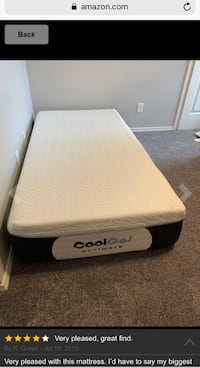 "TWIN 14"" Cool Gel Memory MATTRESS with BONUS Pillow plz READ⬇ ESPAÑOL"