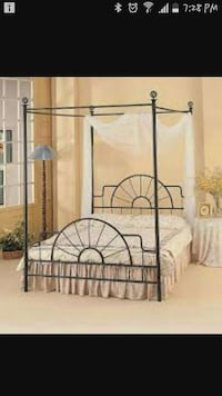 Double wrong iron canopy bed   Ontario, L8E 4M8