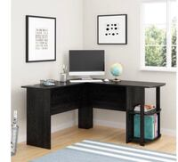 L Shape Desk with storage in Black (Back 2 School Sale)  Houston, 77092