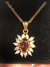 gold-colored and blue gemstone pendant necklace Phoenix, 85020