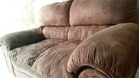 brown velvet loveseat