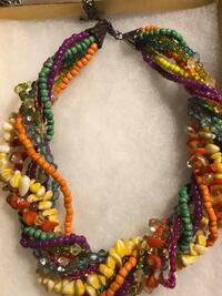 WOMEN MULTICOLORED ROPE NECKLACE