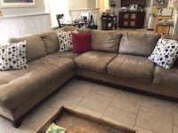Beautiful velvet soft tan beige sectional-Delivery available Portland, 97206