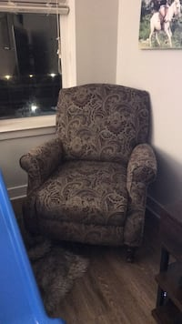 brown and black floral sofa chair College Park, 20740