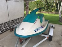 white and blue personal watercraft Riverside, 92503