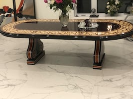 Italian dining room table, made in Italy.