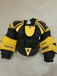 black and yellow shoulder pads