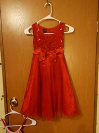 red  sleeveless dress size 10/12young girls  Jessup, 20794