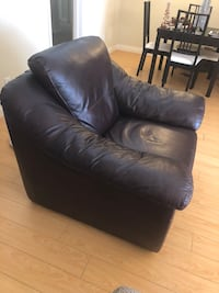 black leather sofa chair with ottoman Los Angeles, 90034