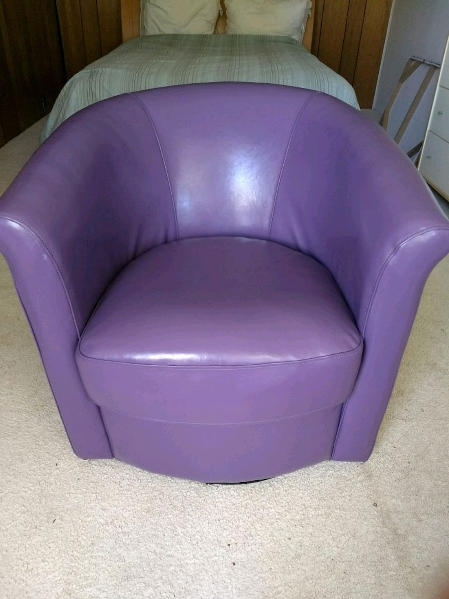 Purple Leather Chair