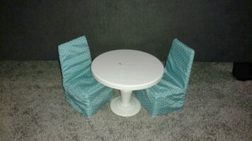 Doll kitchen table and chairs set