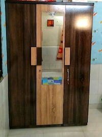 brown wooden cabinet with mirror Ahmedabad