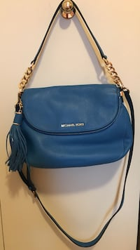 Authentic Blue leather michael kors 2-way bag