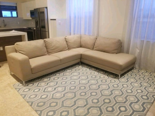 Italian Leather Sofa Taupe Sectional 10fba96b-e0fd-406f-ae82-673ef459f74f